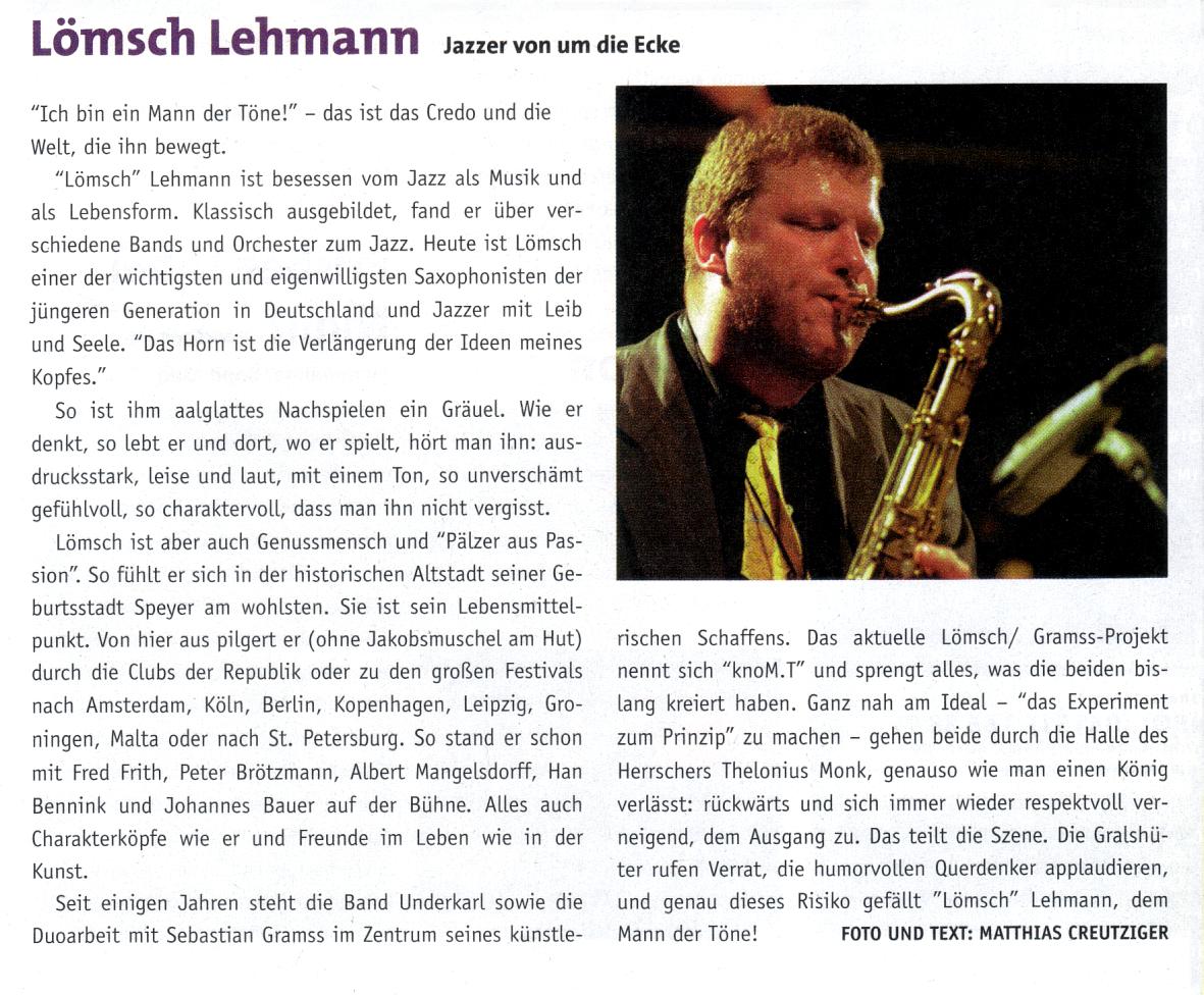 Presse Lömsch Lehmann - Matthias Creutziger